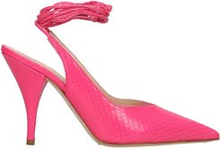Pumps In Fuxia Leather