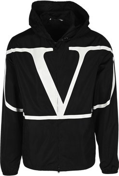 Vlogo Print Hooded Jacket