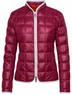 Down Jacket In Burgundy Nylon