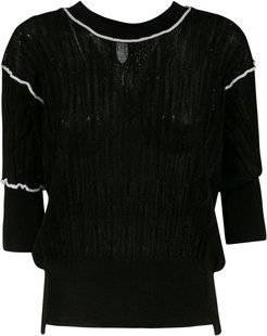 Ribbed Cropped Jumper