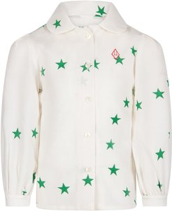 White Shirt For Girl With Stars