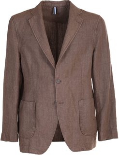 single-breasted linen jacket