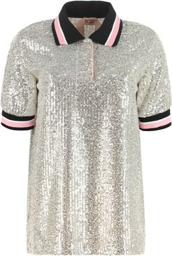 Sequin Polo Shirt