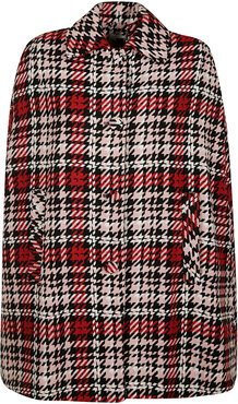 Houndstooth Checked Cape