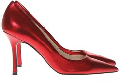 Laminate Red Leather Pumps