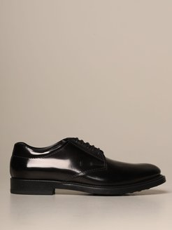 Brogue Shoes Tods Derby In Brushed Leather With Rubber Sole