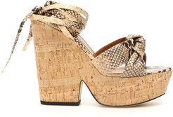 Python Print Knotted Wedge Sandals