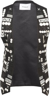 Embroidered Detail Gilet