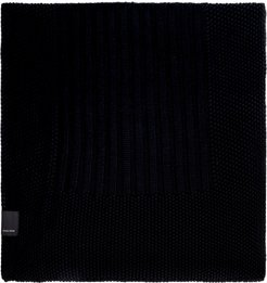 Knitted Wool Scarf - Black Label