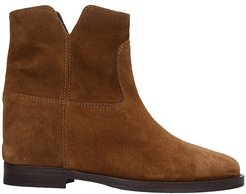 Ankel Boots Inside Wedge In Leather Color Suede