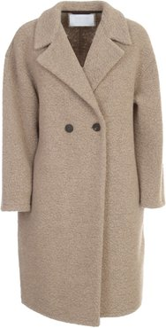 Dropped Shoulder D.b. Coat Bouclé