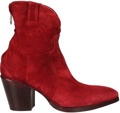 Rear Zip Ankle Boots