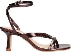 Sandals In Brown Leather