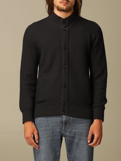 Sweater Z Zegna Cardigan In Textured And Water-repellent Wool