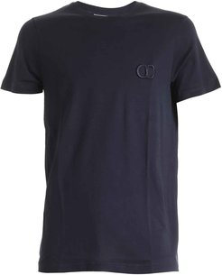 Dior Cd Embroidered Blue Navy T-shirt