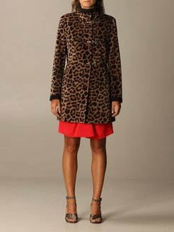 Coat Virginia Fay Coat In Animalier Cotton With Toggles