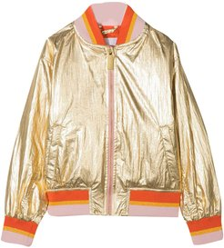 Gold Jacket With Orange Details