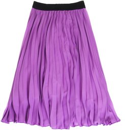 Long Skirt In Lilac Fabric