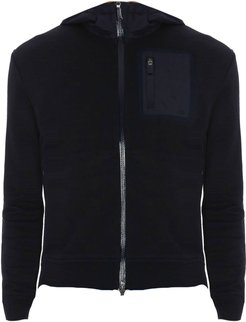 Blue Cotton Bomber Sweater