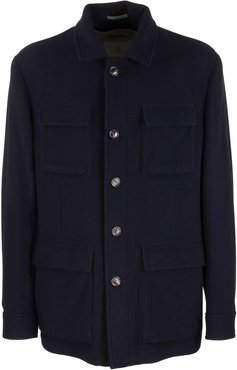 Cashmere Double Cloth Outerwear Jacket With Removable Padding