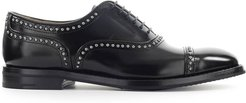 Polished Fume Black Anna Met Oxford Lace-up