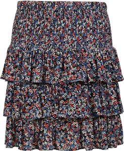 Triple-layered Floral Print Skirt