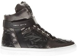 Variante A Black Leather High Top Sneakers