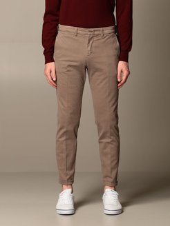 Pants Chino Fay Trousers In Stretch Cotton Gabardine
