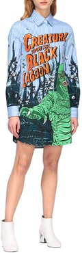 Couture Dress Moschino Couture Shirt Dress With Monster Print