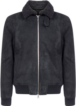 Davis Suede And Shearling Bomber Jacket