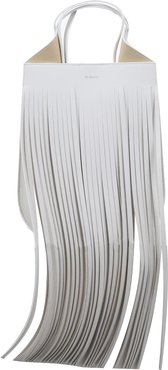 White Helene Mini Fringe Bag