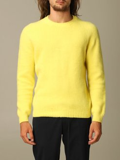 Sweater Eleventy Crewneck Pullover In Brushed Wool