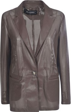 Double-breasted Buttoned Blazer