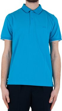 Polo Small Stripes Collar El. - Turquoise/blue