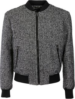 Houndstooth Ribbed Bomber