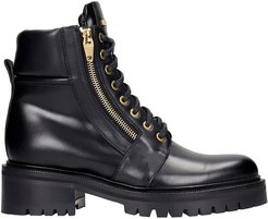 Ranger Combat Boots In Black Leather
