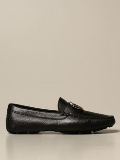 Loafers Just Cavalli Moccasin In Hammered Leather