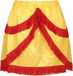 Yellow Skirt For Girl With Iconic Logo