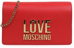 Red Clutch With Logo
