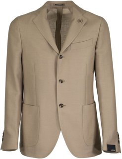 Two-button Wool And Linen Jacket