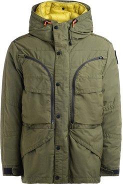 Alpha 3-in-1 Hooded Jacket With Nylon Twill Shell And Feather Body Warmer