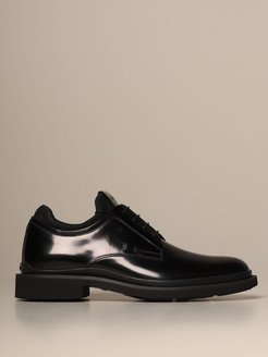 Brogue Shoes Tods Derby In Brushed Leather With Neoprene Sock