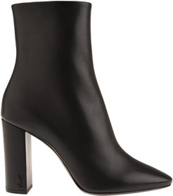 Lou 95 Ankle Boot In Black Leather