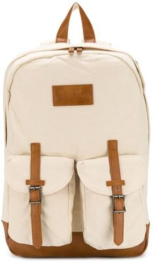 Beige Canvas Backpack