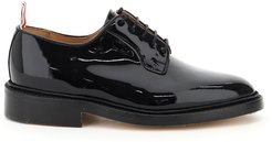 Lace-up Derby Shoes In Patent Leather