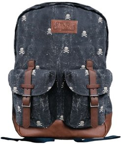Micro Skull Canvas Backpack