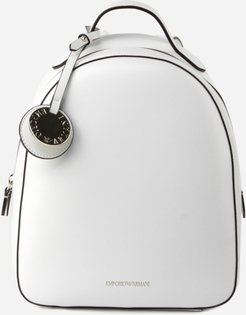 Backpack With Charm Detail And Screen-printed Logo