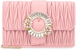 Miu Lady Quilted Leather Clutch