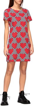 Dress Love Moschino T-shirt Dress With All Over Heart Print