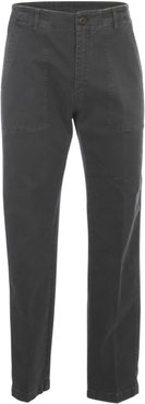 Prince Tat Gabardine Jeans W/applied Pockets Wash 033